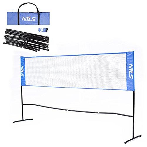 Badmintonnetz Outdoor Garten | Badminton Netz 3 Meter Faltbar | Federballnetz mit Ständer und Tragetasche
