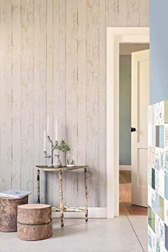 Vlies Tapete Antik Holz Rustikal Beige Grau Verwittert 49790 BN More Than Elements