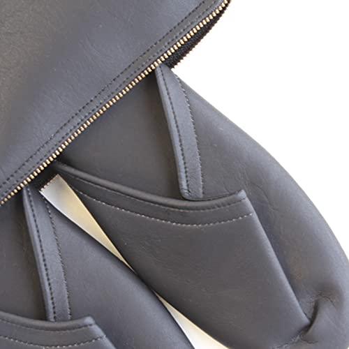 スリム 携帯 スリッパ マットタイプ【収納袋付き L (26.5cm程度まで), ブラック