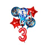 Globos 1 juego de Sonic papel de aluminio conjunto globo globos erizo cumpleaños de los niños decoración del partido de la historieta animal del bebé ducha juguete ballon ( Color : Balloon set 12 )