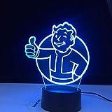 Juego de luz de noche LED 3D con logotipo de casa de radiación para niños para decoración de dormitorio de niños, luz de noche para eventos frescos, lámpara de mesa USB colorida