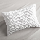 Lindstrom White Bed Pillow 22x15 Pillow with Down-Alternative Insert