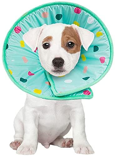 Collar para mascotas para recuperación después de una cirugía, cicatrización de heridas, antimordeduras y fugas, para perros y gatos, antifugas y antiarañazos, anillo (M)