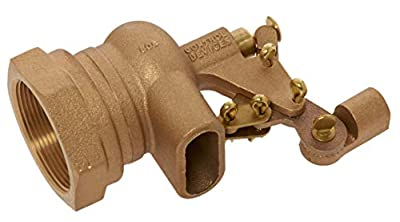 """Robert Manufacturing RF610 Series Bob Red Brass Float Valve with Compound Operating Lever, 1-1/2"""" NPT Female Inlet x FreeFlow Outlet, 180 gpm at 85 psi Pressure by Control Devices"""
