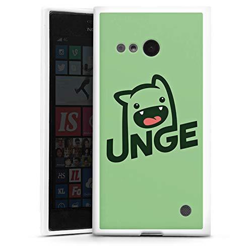 DeinDesign Silikon Hülle kompatibel mit Nokia Lumia 735 Hülle weiß Handyhülle YouTube Zocken Youtuber