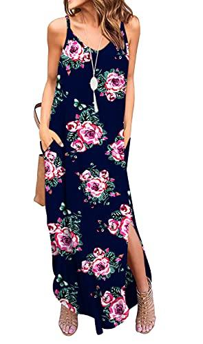 GRECERELLE Women's Summer Casual Loose Dress Spaghetti Strap...