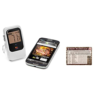 Maverick ET-735 Wireless BBQ Thermometer - Newest Addition - Includes FREE Bear Paw Products Meat Smoking Guide Magnet