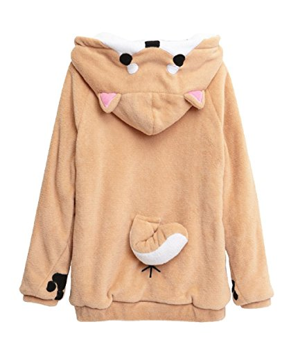 Double Villages Netter Muco Fleece Pullover Itoshi Nein Muco Doge Hoodie Shiba Inu Mantel Unisex (S)