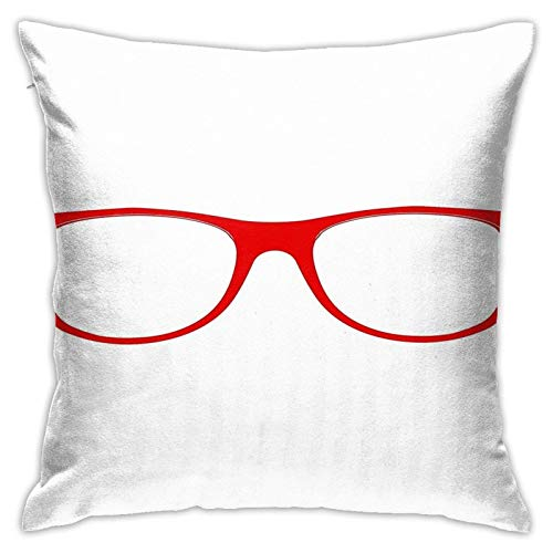WH-CLA Couch Cushions Gafas De Moda Decoración Funda De Almohada Impresa Cuadrada 45X45Cm Ambos Lados Fundas De Almohada Funda De Cojín para Coche Dormitorio Oficina Hogar Dormitorio Sof