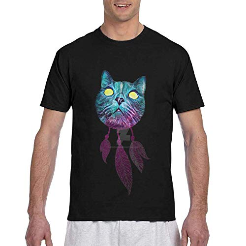 T-Shirt Men's Casual Short Sleeve Dream Catcher Printed Shirts Crew Neck Tee S