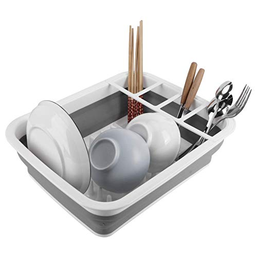 Z-Special Rejilla para secar Platos, Rejilla para Platos, escurridor de Platos, colador de Cesta, con áreas de Compartimentos Separados para Fregadero, Cocina, mostrador, Barbacoa