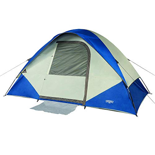 Wenzel Unisex's Tamarack 6 Person Dome Family-Tents, Blu