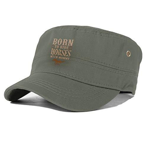 Geboren om te rijden paarden Basic dagelijkse militaire stijl hoed effen kleur unisex leger militaire Cadet Cap