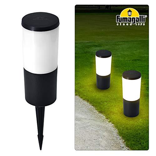Außenbeleuchtung Garten Wegeleuchten mit Erdspieß Aussenleuchte IP55 LED Lichteffekt Dekoration Lampe für Terrasse Rasen Hof Gehweg 230V + 6W E27 Licht Warmweiß 800LM