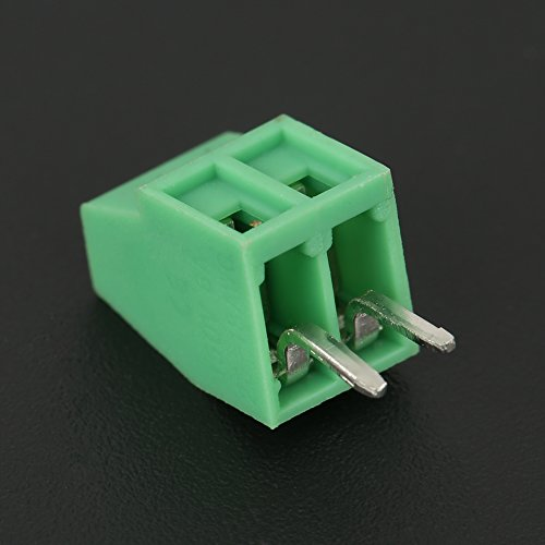 50Pcs 2 Pin Terminal Block Steckverbinder, 2-Pin 2,54 mm Pitch Mount Power Green PCB Schraubklemmenblock Steckverbinder