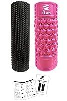 stan フォームローラー セット 筋膜リリース トリガーポイント ストレッチ ローラー ヨガポール (ピンク)