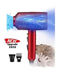 Safe blue LED light,Easily spotting urine stain on pets,a real proffesional hair blower dryer for dogs/cats Stronger wind force,Twice to common hair dryer,2 level force adjustable Specific design for caring pets,Pets favor temperature,fast-dry wind f...