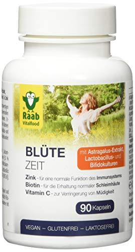 Raab Vitalfood Blütezeit Kapseln, Nahrungsergänzungsmittel mit Astragalus-Extrakt,...