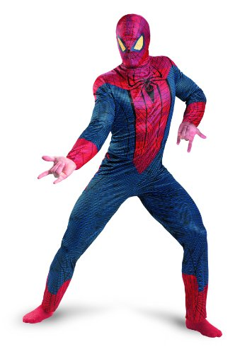 Disguise Marvel The Amazing Spider-Man 3D Movie Classic Adult Costume, Red/Blue, X-Large/(42-46)