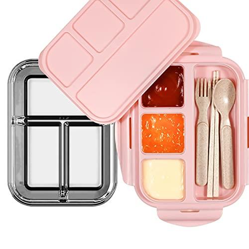 WZWS Envases Herméticos de Vidrio para Alimentos con Tapas, Fiambreras de Vidrio, Recipientes para Preparación de Alimentos, Fiambreras de Vidrio, Platos Reutilizables,Pink