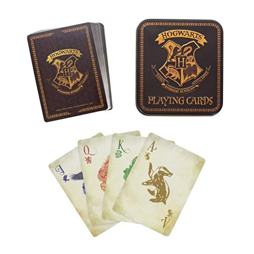 HARRY POTTER PP4258HP Hogwarts Playing Officially Licensed Standard Deck of Cards, Multi Colour