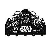 AUUNY Star Wars Clave única Percha de Madera Ropa de Recuerdos Sombrero Key Gancho/de la Capa de Rack/Gancho de la Pared la decoración del hogar Pegatinas de Pared de Cocina Gancho de baño Toalla,