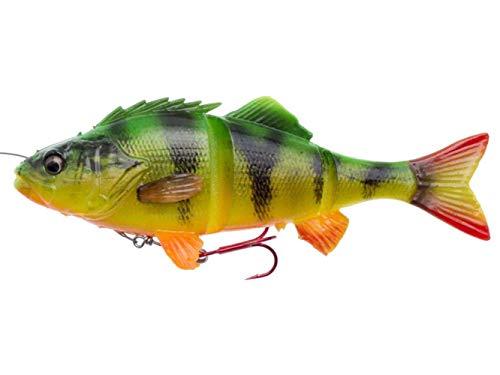 Savage Gear, pesce dig omma 4D Line Thru Perch, esca per la pesca a traino, esca per luccio, esca da pesca a spinning, Firetiger, 17cm - 63g
