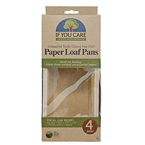 IF YOU CARE FSC Certified Paper Loaf Baking Pans, 4-count