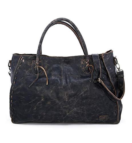 Bed Stu Women's Rockaway Leather Bag (Black Lux)