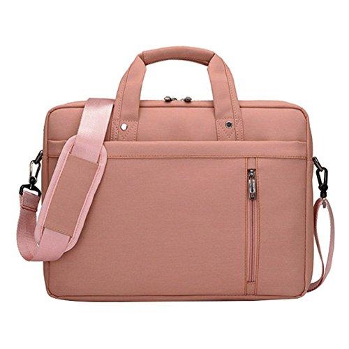 LOSORN ZPY 13-17 Zoll Laptop Tasche mit Schultergurt Aktentasche für Laptop/Notebook Computer/MacBook, Rosa, 15 Zoll