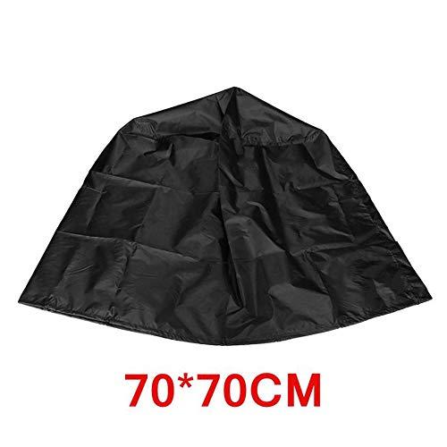 ddmlj en Plein Air Imperméable Bouilloire Barbecue Grill Barbecue Couverture 70X70Cm Noir Protecteur en Polyester Résistant Aux UV Facile Nettoyage Durable