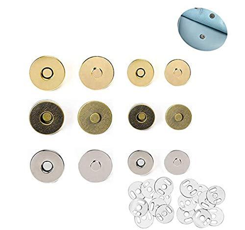 TANGGER Magnético Cierre Magnético Botones,60 Unidades DIY Magnético Cerrar Ideal para Costura Manualidades Ropa Bolsa y Otros Accesorios Ropa (14 mm, 18 mm)