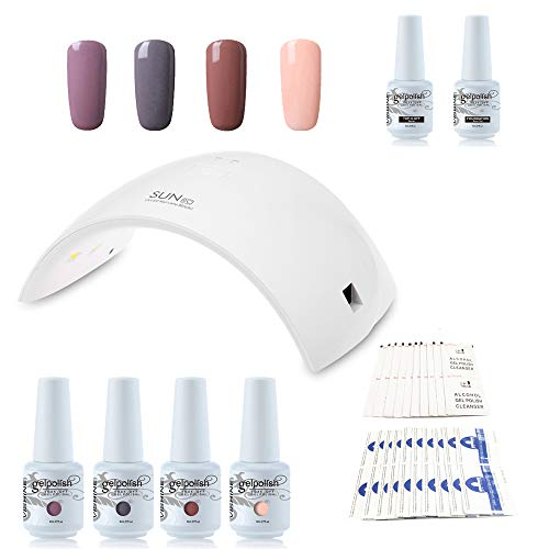 Kit de manucure semi-permanent Vishine - 36W SUN9C Professionnelle LED Lampe sèche ongles...