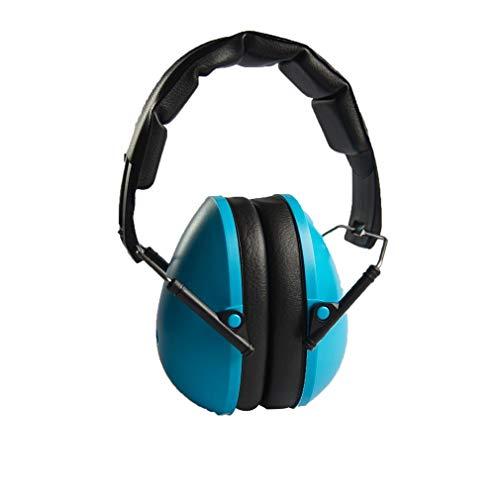 Oorbeschermers voor kinderen Gehoorbeschermers Verstelbare hoofdband Gehoorbescherming Geluiddicht Blauw