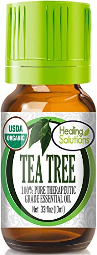 Organic Tea Tree Essential Oil (100% Pure - USDA Certified Organic) Best Therapeutic Grade Essential...