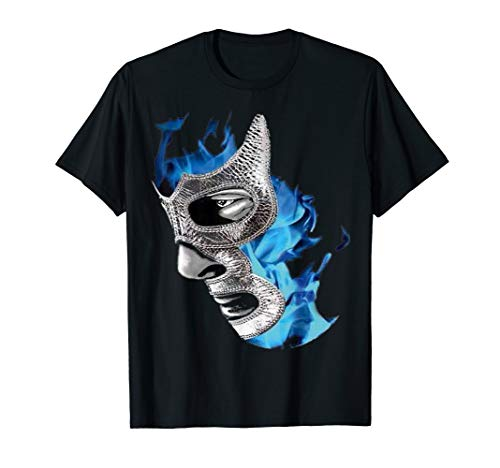Feel-Ink Demon Blue Lucha Libre Mexican Wrestler Legend