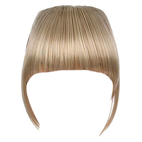 Lanbowo Clip en Faux Cheveux Frange avec Temple Bangs Cheveux Extension Plat Frange Perruque Postiche - 18/613