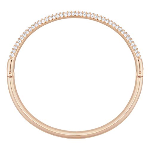 Swarovski Bracciale Rigido Stone, Bianco, Placcato Oro Rosa