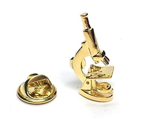 Gemelolandia Broche de soupe microscope scientifique doré   Accessoires Originaux Pour Hommes et Enfants Pour vestes, blazers ou pulls