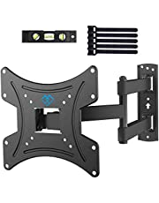 TV Wall Bracket, Swivel Tilt Solid Sturdy TV Mount for 13-42 Inch TVs, 35kg Weight Capacity, Max VESA 200X200mm, Spirit Level, Cable Ties Included