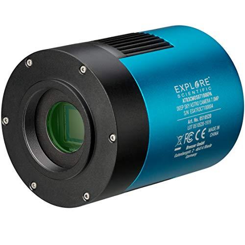 Explore Scientific Deep Sky Astro Farb Kamera 7,1MP USB 3.0 mit großem und extrem empfindlichen Sony Exmor IMX428 CMOS Sensor und aktiver Kühlung