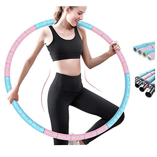 Ihallo 2021 Neu Fitness Hula Hoop Reifen 6 Segmente Abnehmbarer Hoola Hoop Reifen Geeignet Für Fitness/Gewichtverlust/Bauchformung,(1Kg 100 cm)