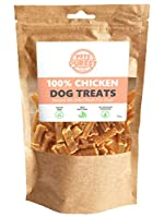 ALL NATURAL DOG CHEW: No Fillers or Nasties! Why feed your dog anything harmful? Our gluten and grain free dog treats only contain one ingredient, which is chicken meat. Our delicious and healthy dog treats are enjoyed by even the fussiest dogs. PURE...
