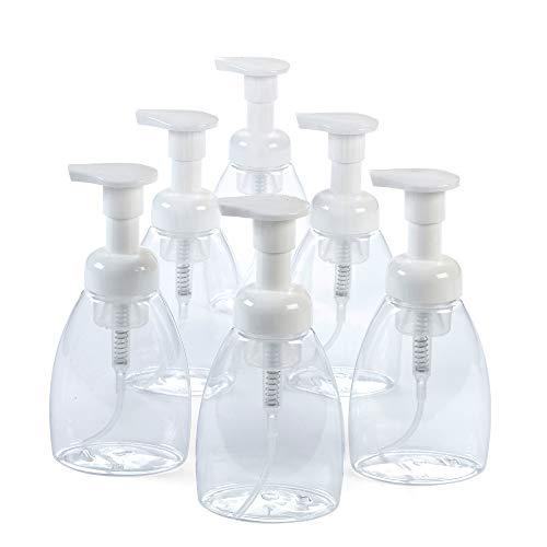 Parker Eight Foaming Hand Soap Dispenser (6 pk) Soap Foam Dispenser (8.5 oz) Soap Dispenser- Refillable and Eco Friendly