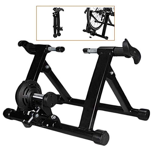 DSHUJC Bicycle Turbo Trainer,Indoor Bike Trainer Stand - Stationary Exercise Trainer Stand - Fit 20-22' Mountain & Road Bicycle Support