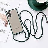 LIUYAWEI Bandoulière Collier Lanière Mat Clair Téléphone Cas pour Samsung A42 A11 M31S A20E M30...