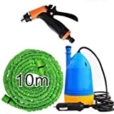 MOHAK Plastic Car Wash Self-Priming High Pressure Automatic Electric Washer with Water Gun and Special Hose Pipe with Submersible Pumps (Multicolor)