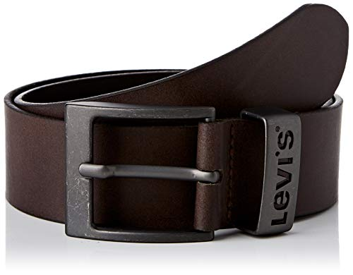 Levi's LEVIS FOOTWEAR AND ACCESSORIES Ashland Metal cinturón, Brown, 80 Unisex Adulto