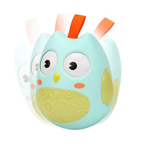 Kim Player Roly Poly Toy, Owl Weeble Wobble Toys for Baby 3 to 12...