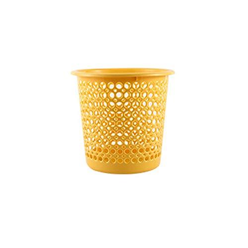 Lpiotyuljt Cubo Basura Reciclaje, PP Material Hollow and Lightweight Poder Poder para la Cocina y el baño (Color : Yellow)